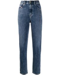 DIESEL Faded straight jeans - Bleu