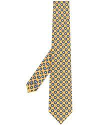 Canali Галстук С Цветочным Узором - Желтый