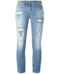 Faith Connexion | Distressed Cropped Jeans | Lyst