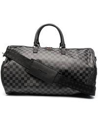 Sprayground Checkerboard-print Duffle Bag - Black