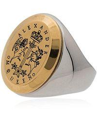 Alexander McQueen 'Signet' Ring - Mehrfarbig
