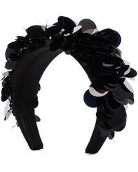 Prada Haarband mit Pailletten - Schwarz