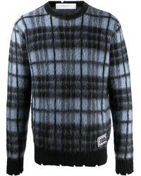 Golden Goose チェック セーター - ブルー