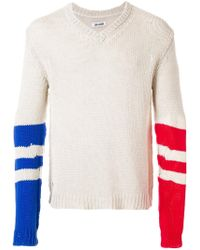 Zadig & Voltaire Contrasting Sleeves Keddy Sweater - Natural