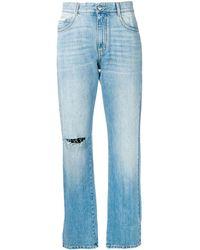 Stella McCartney - Distressed Cropped Jeans - Lyst