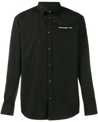 DSquared² Camisa con logo estampado - Negro