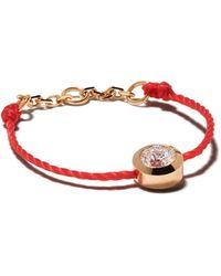 RedLine 18kt Rose Gold Pure Diamond String Ring - Multicolor