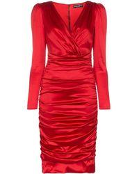 Dolce & Gabbana - サテン ドレス - Lyst