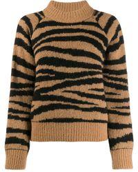 A.P.C. Jemima Tiger-jacquard -blend Jumper - Brown