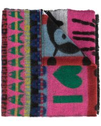 Walter Van Beirendonck I Love W Wool Scarf - Multicolor