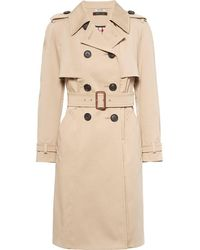 Miu Miu Double-breasted Belted Trench Coat - Natural