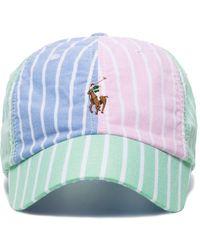 Polo Ralph Lauren Striped Baseball Cap - White