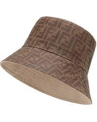 new style c77ab 36e4a Cappello a falda larga reversibile - Marrone