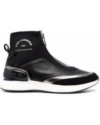 Karl Lagerfeld Logo-print Slip-on Trainers - Black
