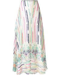 Vilshenko - Printed Maxi A-line Skirt - Lyst