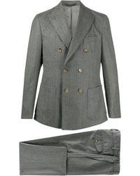 Eleventy ツーピース ダブルスーツ - グレー