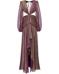 PATBO Metallic Cut-out Gown - Pink