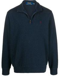 Polo Ralph Lauren Pullover mit Reißverschluss - Blau