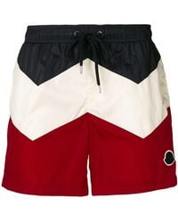 Moncler - Colour Block Swim Shorts - Lyst