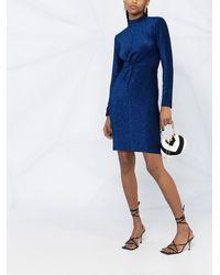 Karl Lagerfeld シャーリング ドレス - ブルー