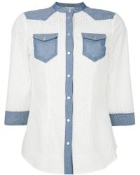 Twin Set - Anglaise Broderie Shirt - Lyst