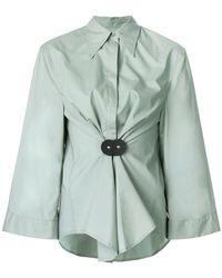 MM6 by Maison Martin Margiela - Ruched Waist Shirt - Lyst