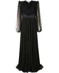 Givenchy Платье С Кружевом - Черный