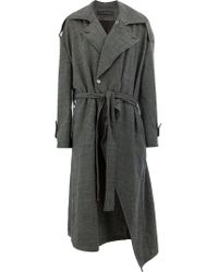 Miaoran - Belted Trench Coat - Lyst