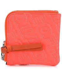 House of Holland Embroidered Logo Wallet - Orange