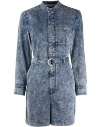 Stella McCartney Tuta corta denim - Blu
