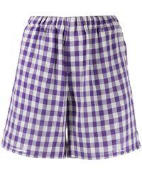 AMI Pantalones cortos a cuadros - Morado