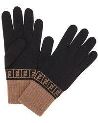 Fendi - Handschuhe mit FF-Muster - Lyst