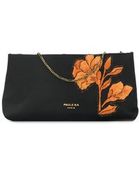Paule Ka - Floral Embroidered Clutch - Lyst