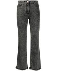 Boutique Moschino Джинсы Bootcut Punk Lady - Серый