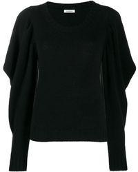 P.A.R.O.S.H. Draped Sleeve Sweater - Black