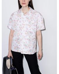 Commission Hemd mit Blumen-Print - Weiß