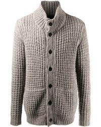 Roberto Collina Waffle-knit Cardigan - Gray