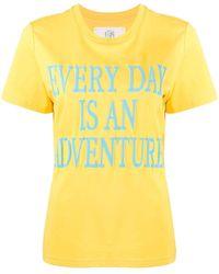 Alberta Ferretti - スローガン Tシャツ - Lyst