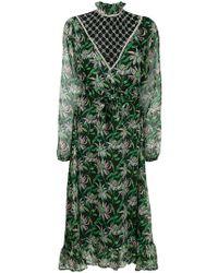 Dodo Bar Or Jewel Embellished Floral Dress - Green