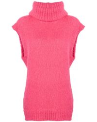Erika Cavallini Semi Couture - Roll Neck Sweater - Lyst