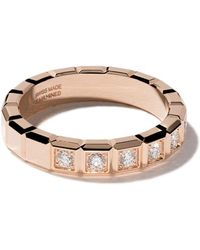 Chopard Anillo Ice Cube con diamantes en oro rosa de 18kt - Multicolor