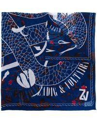 Zadig & Voltaire Delta Viper スカーフ - ブルー