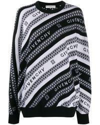 Givenchy インターシャロゴ セーター - ブラック