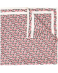 KENZO モノグラム スカーフ - マルチカラー