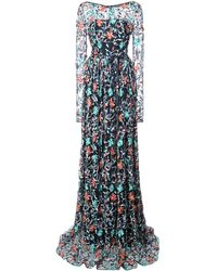 Zac Zac Posen Venice ドレス - ブルー