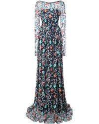 Zac Zac Posen Venice Spread Gown - Blue