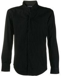 Emporio Armani - Camisa texturizada con cuello alto - Lyst