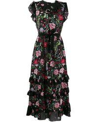 RED Valentino Redvalentino Cherry Blossom Print Dress - Black