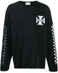 Rhude ロゴ スウェットシャツ - ブラック