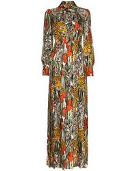 Gucci Garden Print Maxi Dress - Multicolour